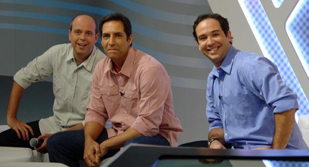 Alex Escobar, Luís Ernesto Lacombe e Caio Ribeiro participam do Esporte Espetacular de domingo, dia 27 (Foto: Gisele Gomes/TV Globo)