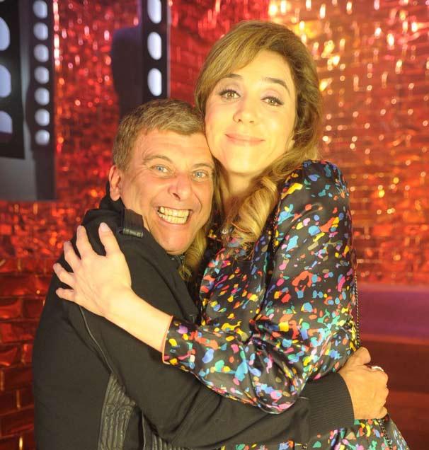 Jorge Fernando e Marisa Orth gravam cena em que acontece o acidente de Nelson (Foto: TV Globo / Marcio Nunes)