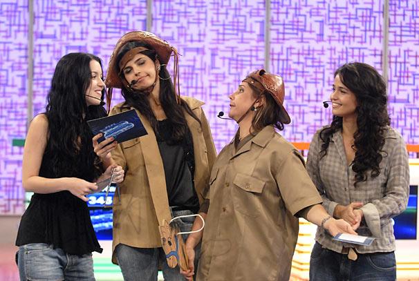 Nathalia Dill, Emanuelle Araújo, Heloísa Perissé e Nanda Costa participam do Vídeo Game (Foto: TV Globo / Blenda Gomes)