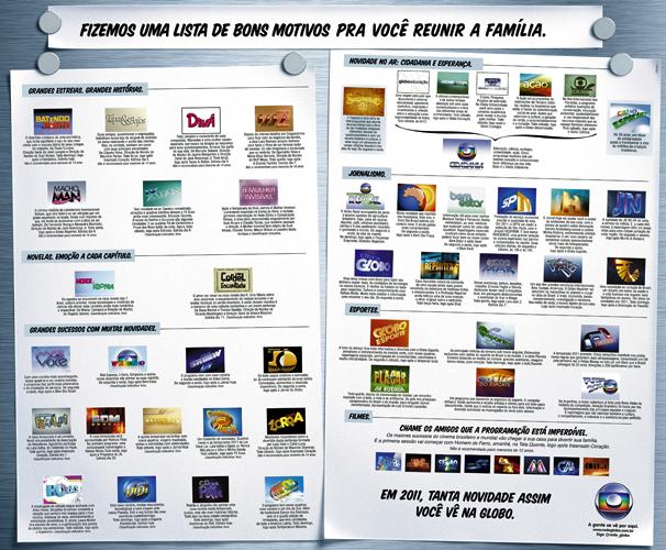 Programação Rede Globo SP (Foto: TV Globo/ Divulgação)