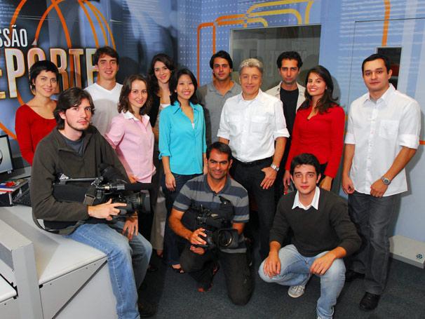 Caco Barcellos e equipe (Foto: TV Globo / Zé Paulo Cardeal)