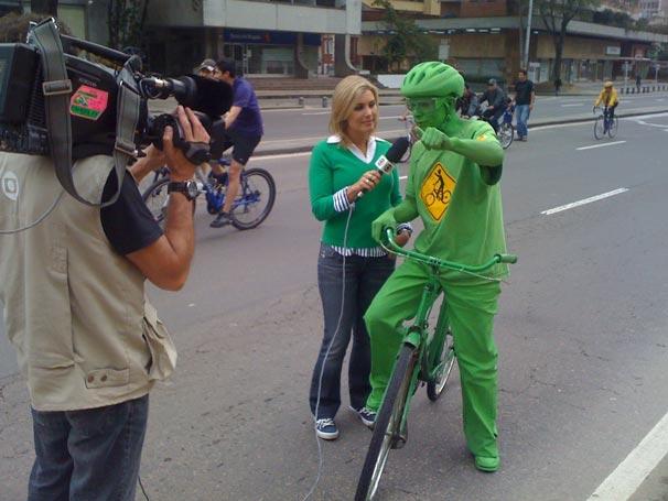 Ciclista alertou para o uso de meios de transporte alternativos (Foto: Divulgação TV Globo)