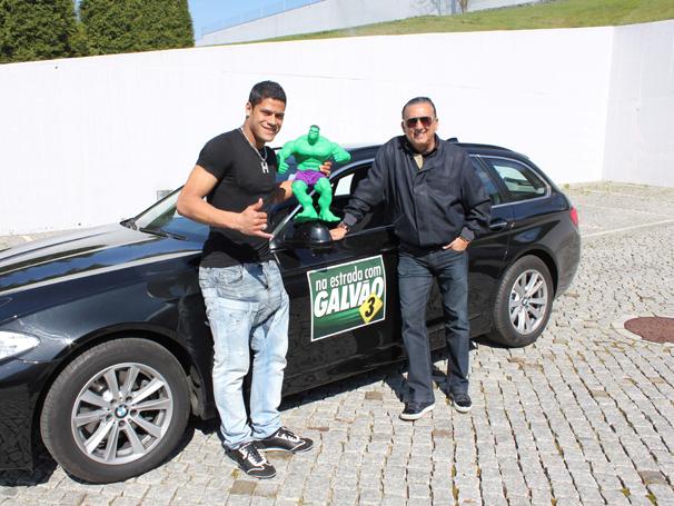 na estrada com galvão (Foto: Rede Globo)