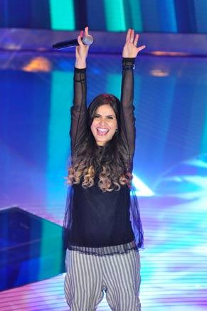 Aline Barros é a atração musical do programa (Foto: TV Globo / Estevam Avellar)