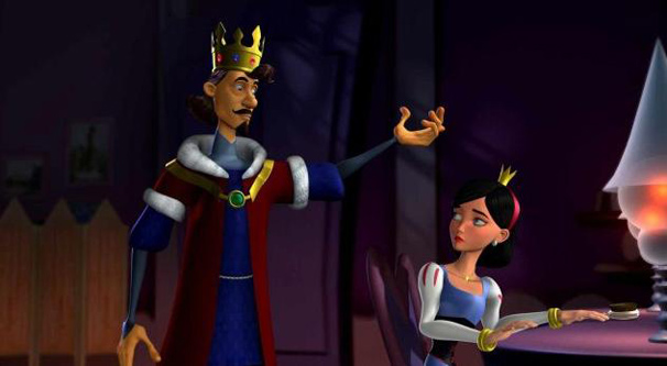 O rei fica desapontado com o comportamento da filha (Foto: Divulgação)