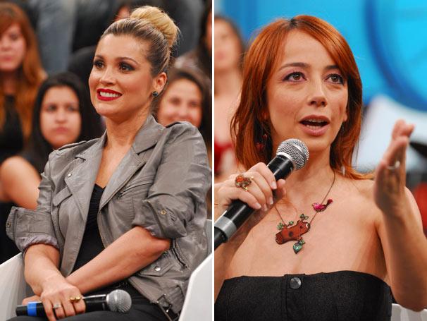 Flávia Alessandra e Nina Pandolfo também são convidadas deste sábado (Foto: TV Globo/Zé Paulo Cardeal)