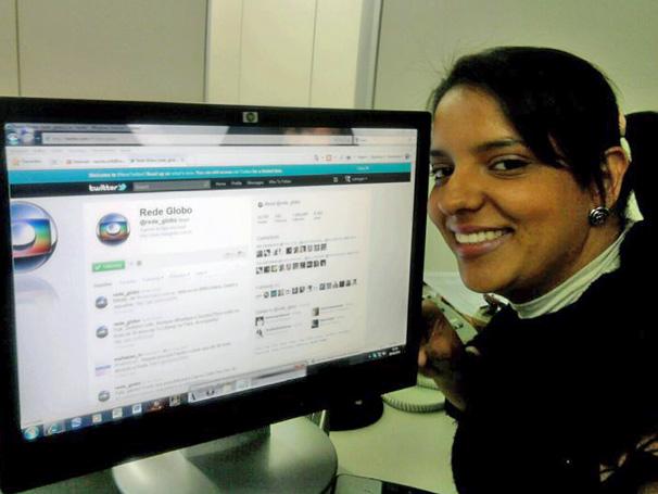 Camila Gonçalves foi a milionésima seguidora do perfil @rede_globo  (Foto: Arquivo Pessoal)
