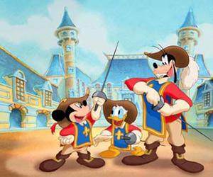 Mickey, Donald e Pateta têm a chance de virar mosqueteiros (Foto: Divulgação)