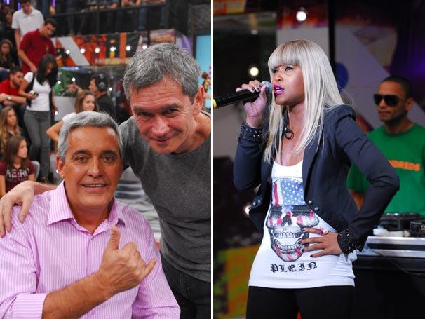 Serginho Groisman recebe Mauro Naves e a cantora Eve (Foto: TV Globo/Zé Paulo Cardeal)