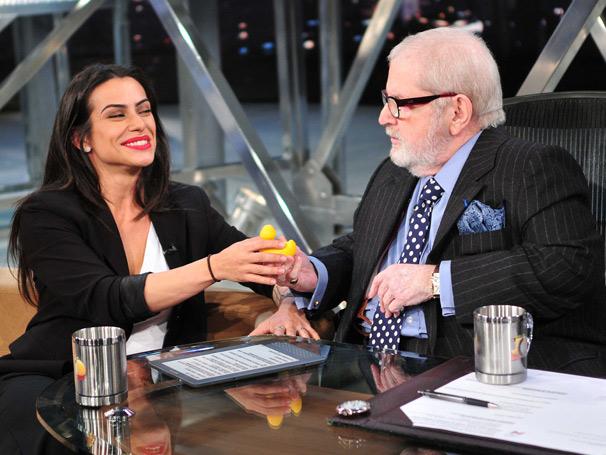 No Programa do Jô, Cléo Pires fala sobre seu primeiro papel como atriz e revela que já fpi apaixonada por Romário (Foto: TV Globo/Ricardo Martins)