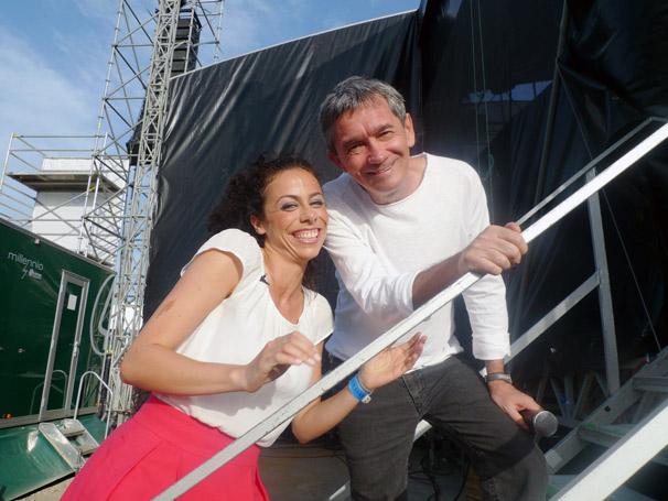 Serginho Groisman e Filomena Cautela estiveram no Brazilian Day em Portugal (Foto: Divulgação TV Globo)