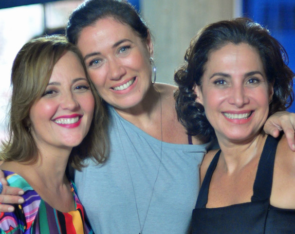 Claudia Netto, Lilia Cabral e Totia Meireles gravam último episódio de Divã (Foto: TV Globo/ Estevam Avellar)
