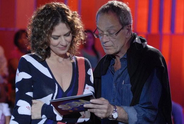 Patrícia Pillar e Luiz Gleiser (Foto: TV Globo/Marcio Nunes)