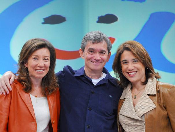 Ana  Beatriz Barbosa, Serginho Groisman e Andréa Ramal (Foto: Zé Paulo Cardeal)