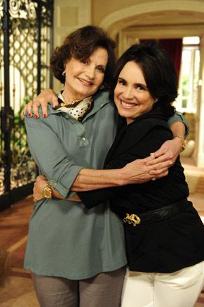 Rosamaria Murtinho e Regina Duarte (Foto: TV Globo/João Miguel Júnior)