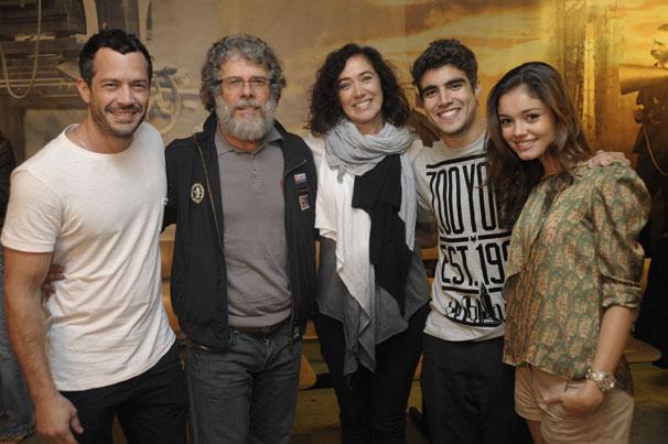 Malvino Salvador, José Mayer, Lilia Cabral, Caio Castro e Sophie Charlotte (Foto: TV Globo/Renato Rocha Miranda)
