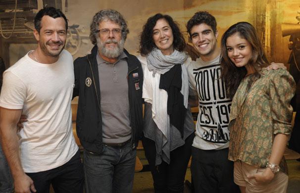 Malvino Salvador, José Mayer, Lilia Cabral, Caio Castro e Sophie Charlotte formam núcleo (Foto: Renato Rocha Miranda/ TV Globo)