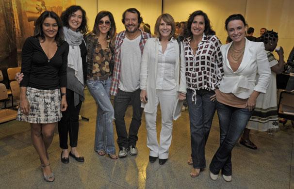Dira Paes, Lília Cabral, Christiane Torloni, Wolf Maia, Renata Sorrah, Totia Meirelles e Suzana Pires (Foto: Renato Rocha Miranda/ TV Globo)