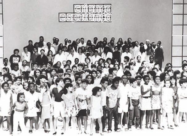 Registro do primeiro encontro do Criança Esperança (Foto: TV Globo)