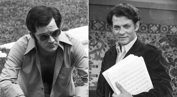 Cláudio Marzo como o piloto de Fórmula 1 Marcelo Montserrat e Gerlado Del Rey na pele de Luciano: os dois 'amores' da vida da protagonista (Foto: CEDOC/ TV Globo)