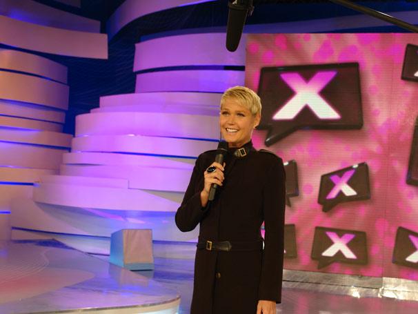 Xuxa participa da gravação da campanha (Foto: TV Globo/Luanna Brito)