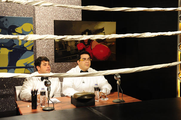 Bruno de Luca e André Marques (Foto: TV Globo/João Miguel Júnior)