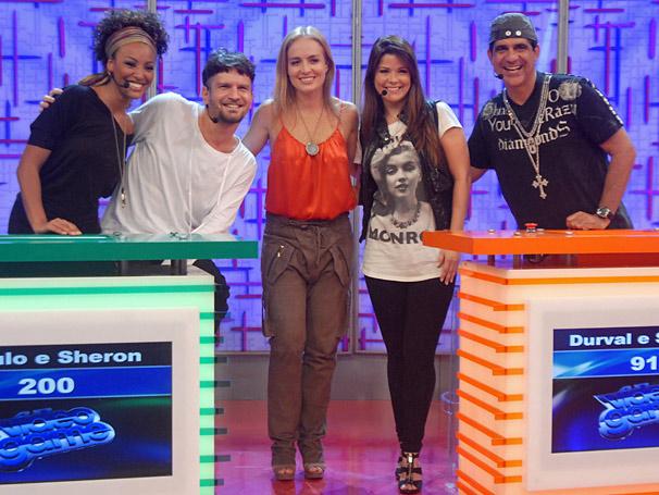 Angélica, Durval Lelys (Asa de Águia), Samara Felippo, Saulo Fernandes (Banda Eva) e Sheron Menezes (Foto: TV Globo / Blenda Gomes)