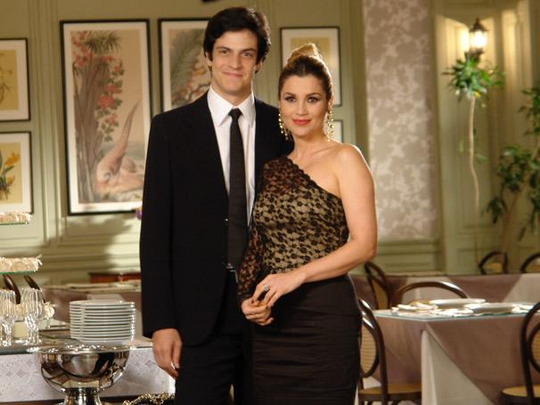 Mateus Solano e Flávia Alessandra (Foto: TV Globo/Gisele Gomes)