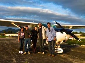 Max Fercondini pilota avião par o Globo Ecologia (Foto: Arquivo Pessoal / Max Fercondini)