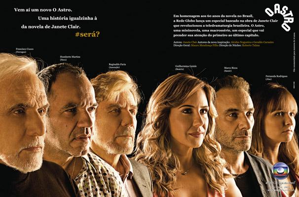 Anúncio de O Astro começa a ser veiculado nesta quarta-feira, dia 29 (Foto: Divulgação / TV Globo)