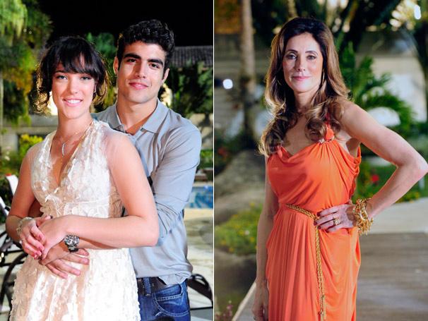 Personagem de Adriana Birolli forma par romântico com Caio Castro e é filha de Christiane Torloni (Foto: TV Globo/João Miguel Júnior)