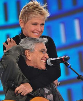 Caetano Veloso participa da homenagem para Xuxa (Foto: Estevam Avellar/ TV Globo)