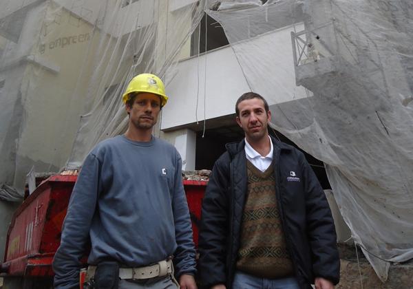 Lourenço e Ricardo: Atores por um dia para o Casos e Causos (Foto: Divulgação/RPC TV)