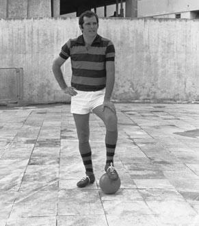 Cláudio Marzo na pele de Duda Coragem, que saiu de Coroado para jogar no Flamengo, no Rio (Foto: CEDOC/ TV Globo)
