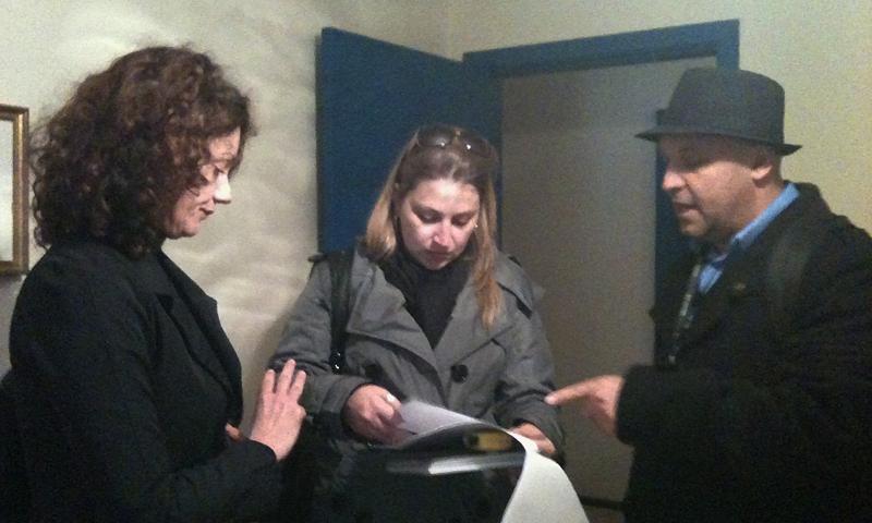 Anaí Bagdolin, Mili Bresolin e Jean Paul buscam por locações (Foto: Divulgação/RPC TV)