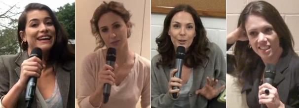 Alinne Moraes, Guilhermina Guinle, Carolina Ferraz e Bel Kutner contam o que perguntariam a um vidente (Foto: Reprodução)