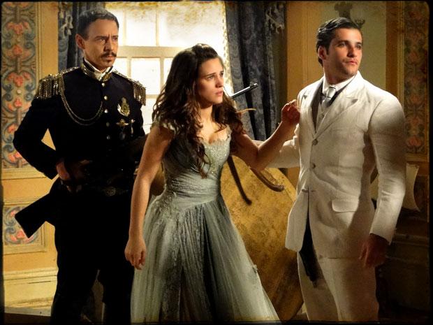 Timóteo consegue invadir o palácio (Foto: TV Globo/ Cordel Encantado)