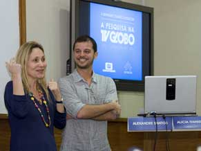 Alexandre dos Santos e Alicia Ivanissevich (Foto: Renato Velasco)