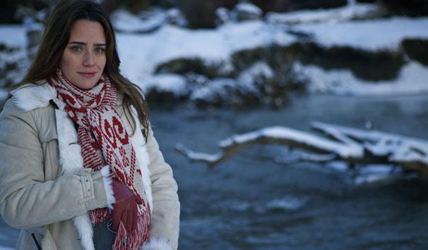 Fernanda Vasconcellos grava cenas de sua personagem, Ana, grávida (Foto: Fabrício Mamberti/ TV Globo)