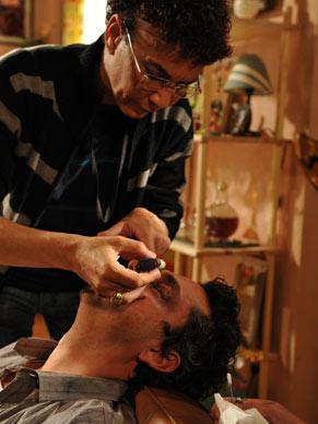 Maquiagem Alexandre Nero em Fina Estampa (Foto: Alex Carvalho/ TV Globo)