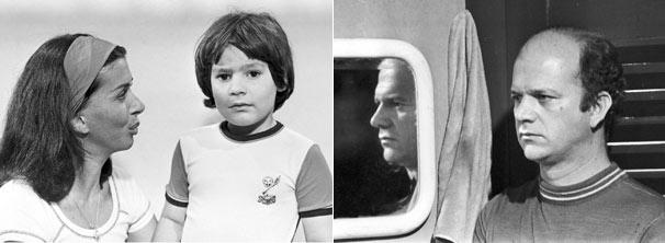 Tomás (Cecil Thiré) abandona a esposa Leda e o filho, Téo (Carlos Poyart) (Foto: CEDOC/ TV Globo)