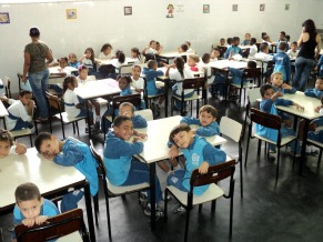 Alunos do Ciep 1º de maio (Foto: DIVULGAÇÃO)