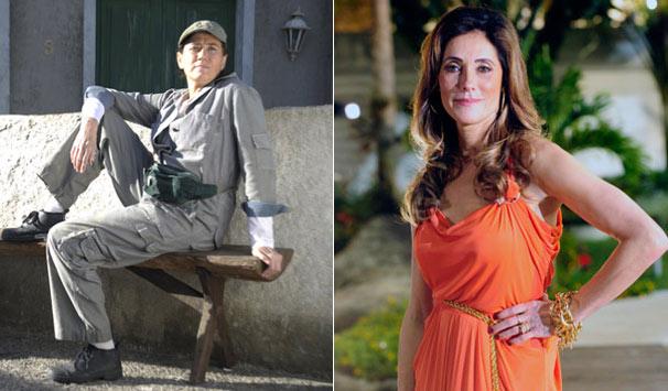 Griselda (Lilia Cabral) e Tereza Cristina (Christiane Torloni) são muito diferentes (Foto: Divulgação/ TV Globo)