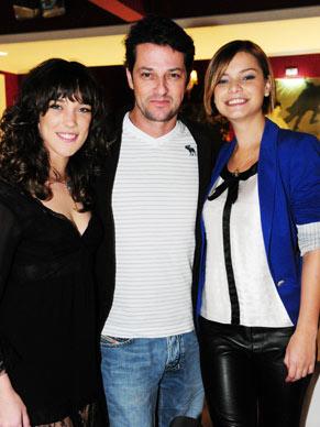 Adriana Birolli, Marcelo Serrado e Milena Toscano no evento (Foto: João Miguel Jr./ TV Globo)
