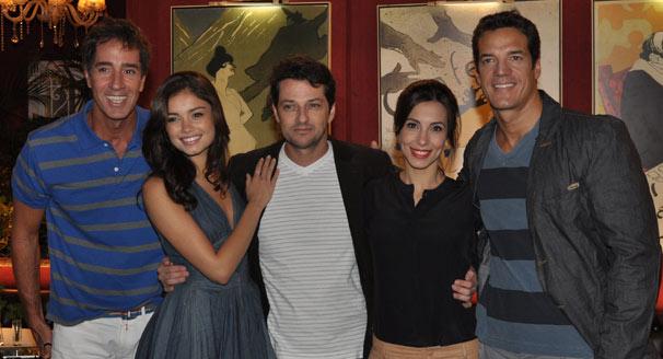 Marcelo Brou , Sophie Charlotte , Marcelo Serrado , Tânia Khallil e Carlos Machado (Foto: João Cotta/ TV Globo)