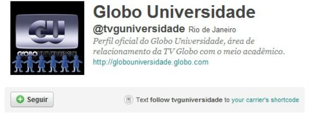 Conheça o perfil @tvguniversidade (Foto: Divulgação)
