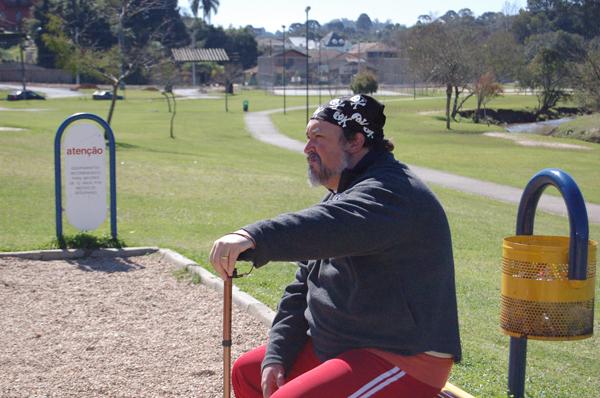 Gravações do Louco de Bom no Parque Tingui (Foto: Divulgação/RPC TV)