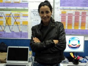 Cassia Kiss  Magro nos bastidores do show  (Foto: Alessandra de Paula)
