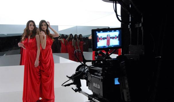 Modelos foram orientadas a olharem para frente (Foto: Zé Paulo Cardeal/ TV Globo)