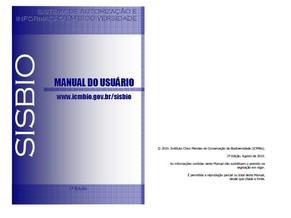 Capa do Manual do Usuário SISBIO (Foto: Reprodução)